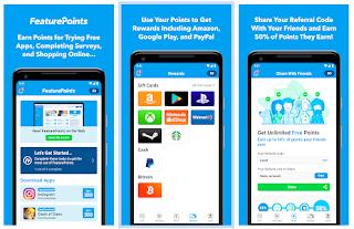 FeaturePoints - Ganhe Dinheiro No PayPal e Gift Cards