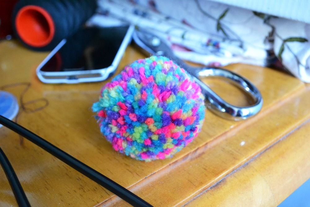pompom colourful scissors sewing supplies