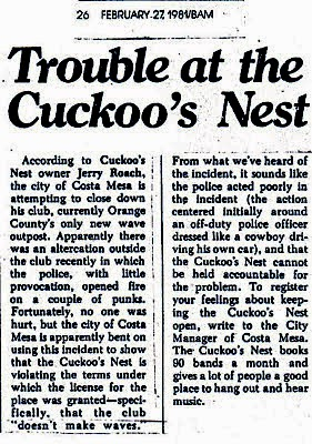 The Cuckoos Nest Newspaper article