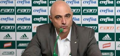 Maurício Galiotte, presidente do Palmeiras: nova proposta de acordo com a Globo coincide com mandato