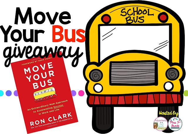 Enter for your chance to win one of two copies of Move Your Bus by Ron Clark in time for a July book study!