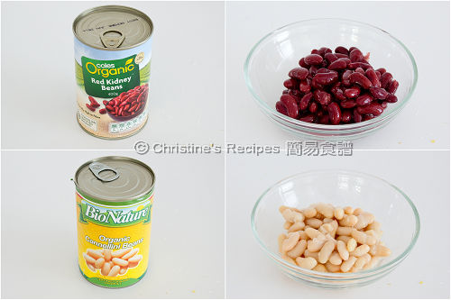 Organic Red Kidney Beans and Organic Cannellini Beans