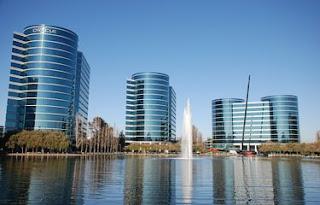 Gedung kantor milik perusahaan teknologi Oracle di Silicon Valley