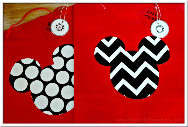Easy DIY Mouse Head Good Bags | 3 Garnets & 2 Sapphires