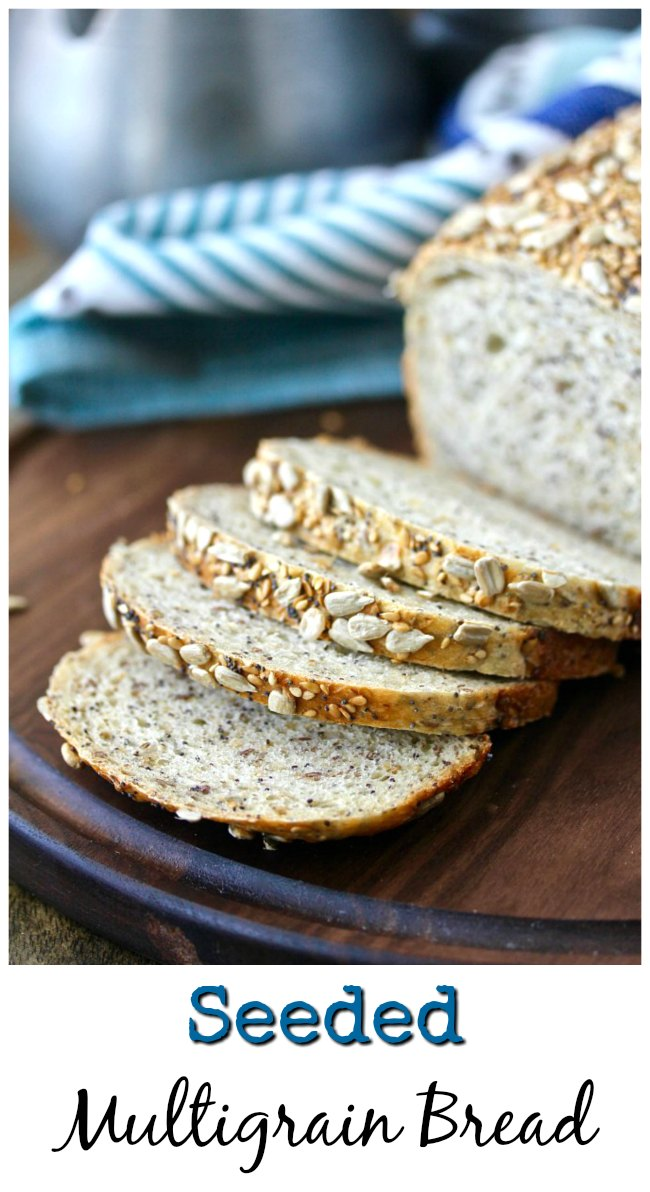 Multi-seed and grain honey bread with sesame, poppy, and flax seeds sliced bread