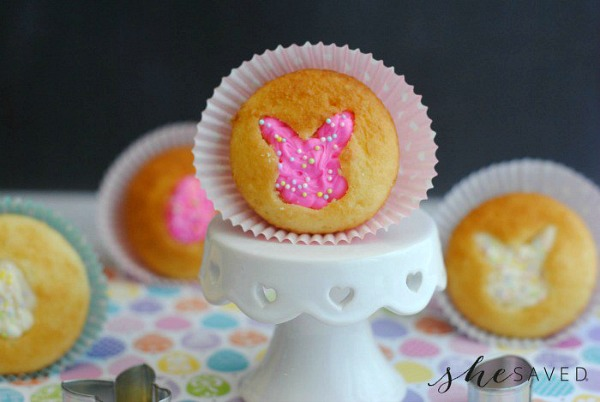 Easter Bunny Cupcakes from She Saved