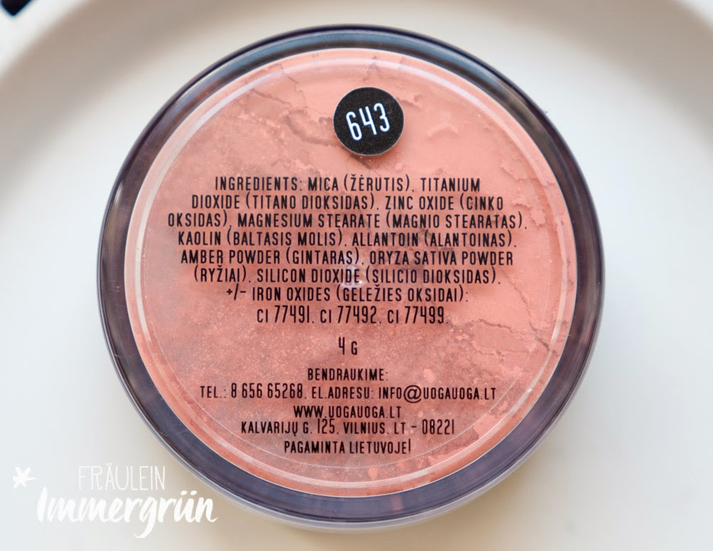 Uoga Uoga Mineral Foundation Blush Peach