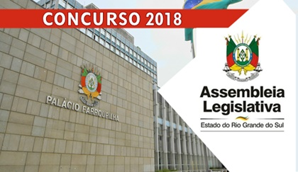 Concurso ALE RS 2018 - Assembleia Legislativa do Rio Grande do Sul