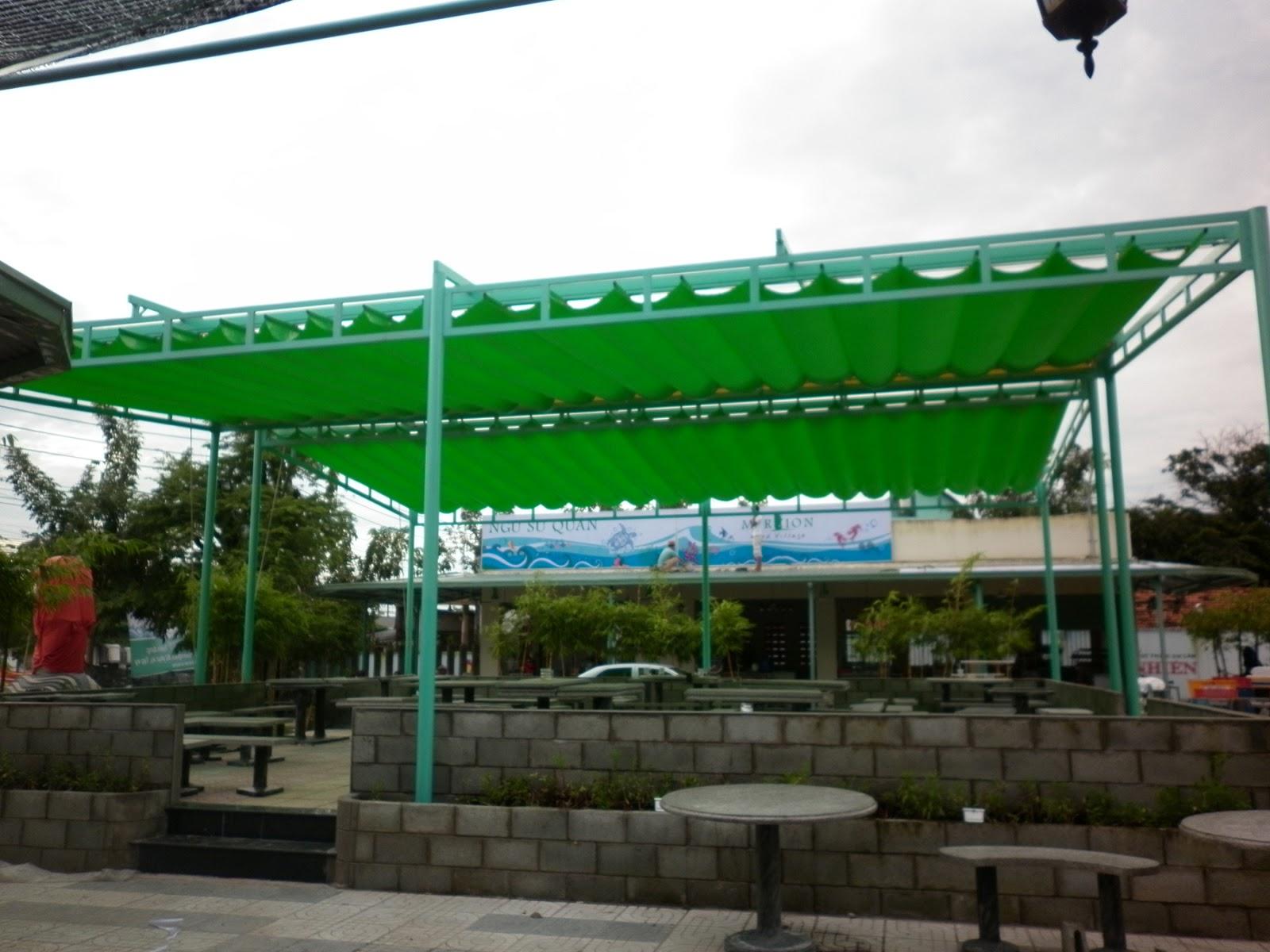 Mái xếp lượn sóng cho công viên mini