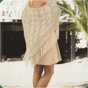 Chal o Poncho a Dos Agujas o Knitting