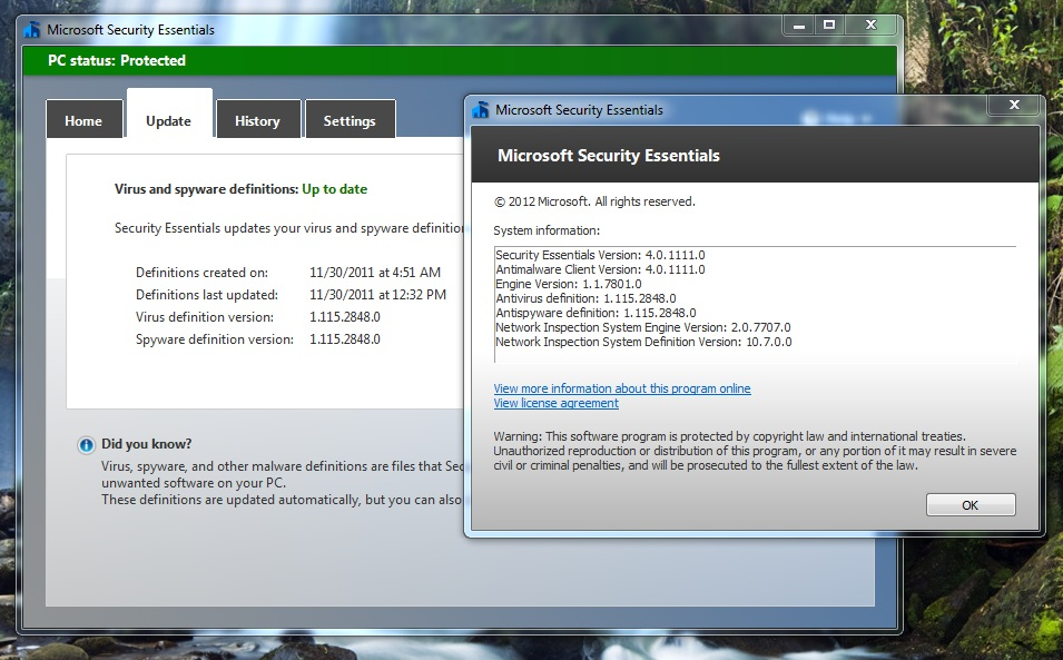 Download Microsoft Security Essentials Updates For Windows 7 - piehuse
