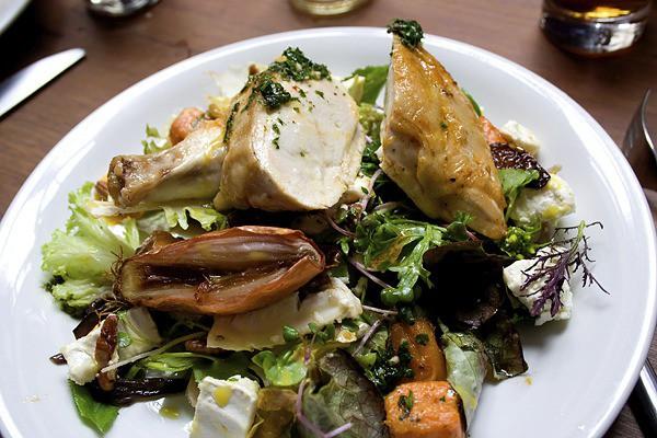 Seasonal Recipe ~ Poached chorizo chicken with lemon yoghurt by Anna Hansen