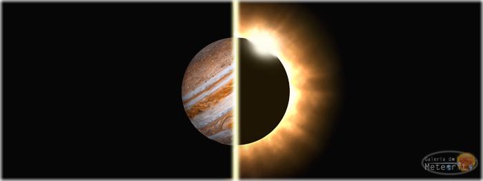 eclipse solar e Júpiter em março de 2016