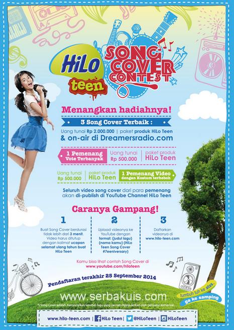 HiLo Teen Song Cover Contest Berhadiah Uang Total 7 JUTA