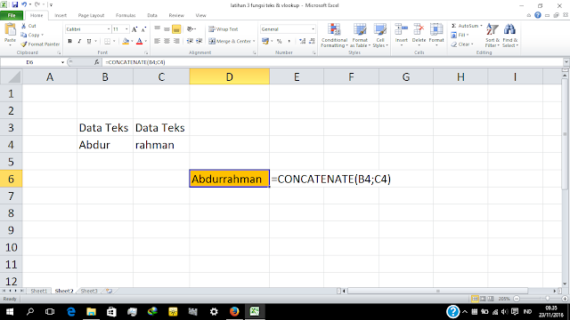 fungsi concatenate