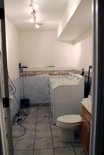 Cool Our after is an art infused laundry room half bath on a tight budget and timeline uwe did it in a week