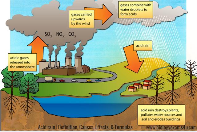 Acid rain Definition, Causes and Effects   Acid Rain Formula