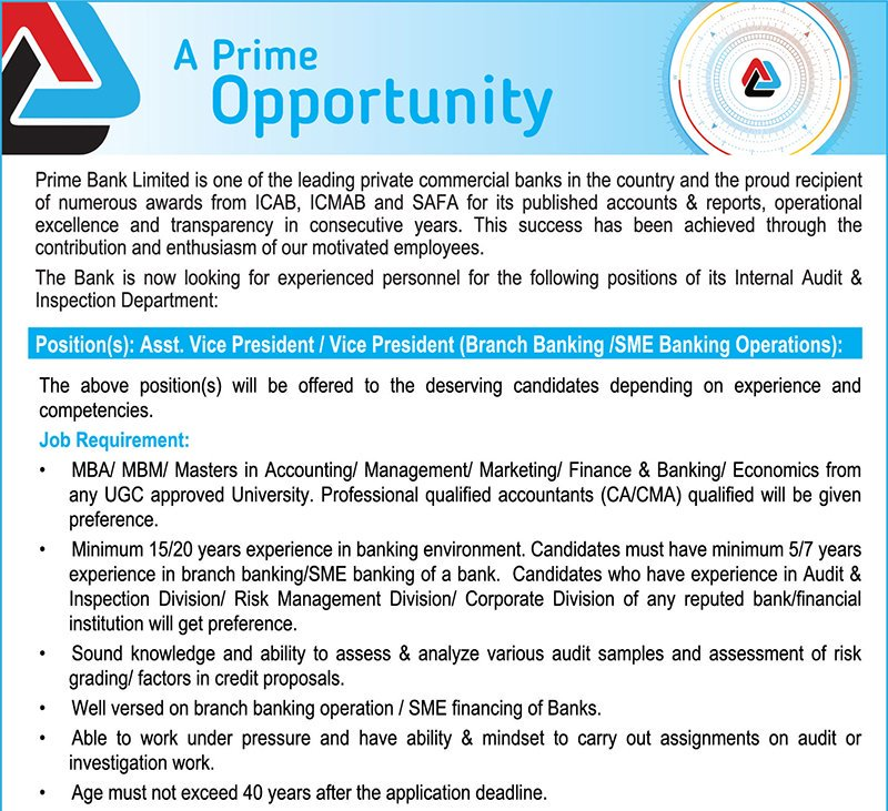 assignment of prime bank Internship report on a bank chapter prime bank limited is one of the first few bangladeshi banks  class assignment etc blog archive 2016 (1).