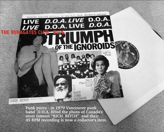 D.O.A. - Vancouver punk band -  1979 Margaret Trudeau album cover
