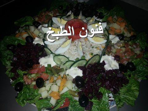 تقديم السلطة,السلطة,سلطة راقية,salade,présentation de salade