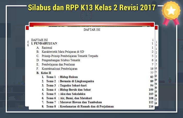 Silabus dan RPP K13 Kelas 2 Revisi 2017