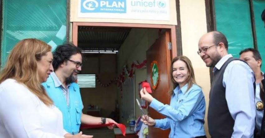 MINEDU y Unicef inauguran aulas temporales para damnificados de Piura - www.minedu.gob.pe