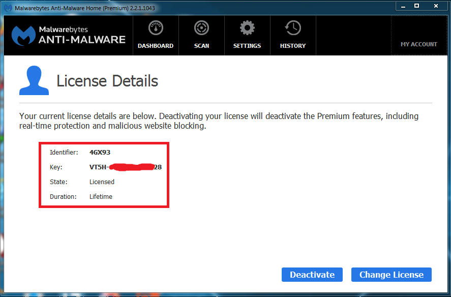 Malwarebytes Anti-Malware Premium License Key