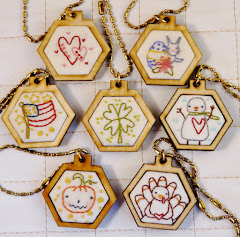 16 mini hexie embroidery designs