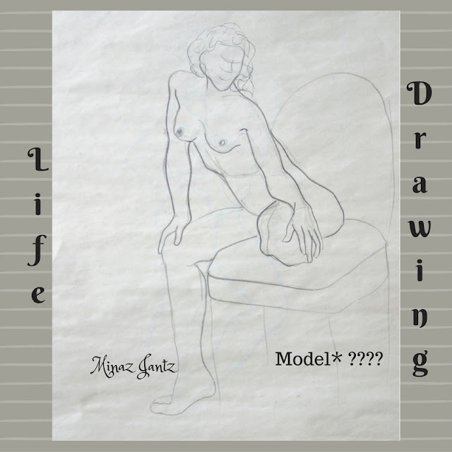 Nude Drawing by Minaz Jantz. Model ????