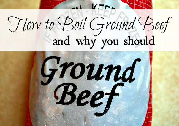 boiled is healthier than fried ground beef