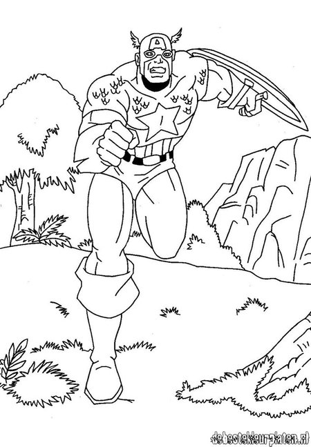 baby captain america coloring pages - photo#27