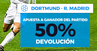 Paston Promoción 50 euros Dortmund vs Real Madrid 26 septiembre