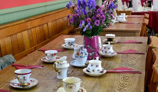 Merriments Gardens vintage afternoon tea