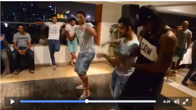 As a new video posted by Chris Gayle shows, you can never be a complete cricketer till you learn to dance well.  De villiers, Kohli, Yuvraj, Gayle, among others, are seen dancing with the finesse of a ballet dancer in this RCB video. Vijay Mallya is sitting happily enjoying the party, flashing the V sign.