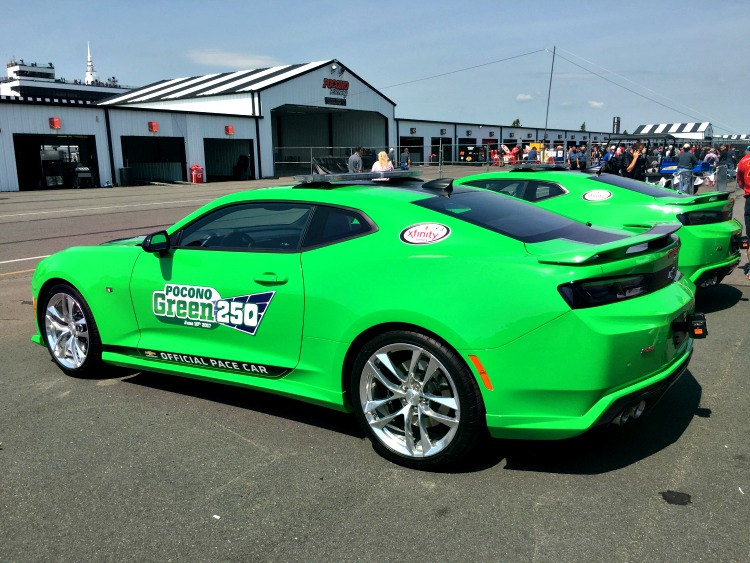 Bright Green Pace Car for the Pocono Green 250