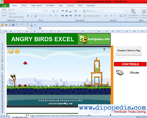 Screenshot Microsoft Excel Game: Angry Birds Excel
