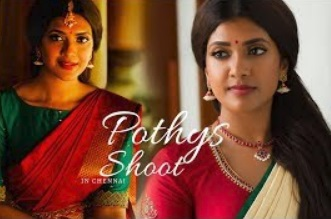 Pothys Shoot | Vithya Hair and Makeup Artist