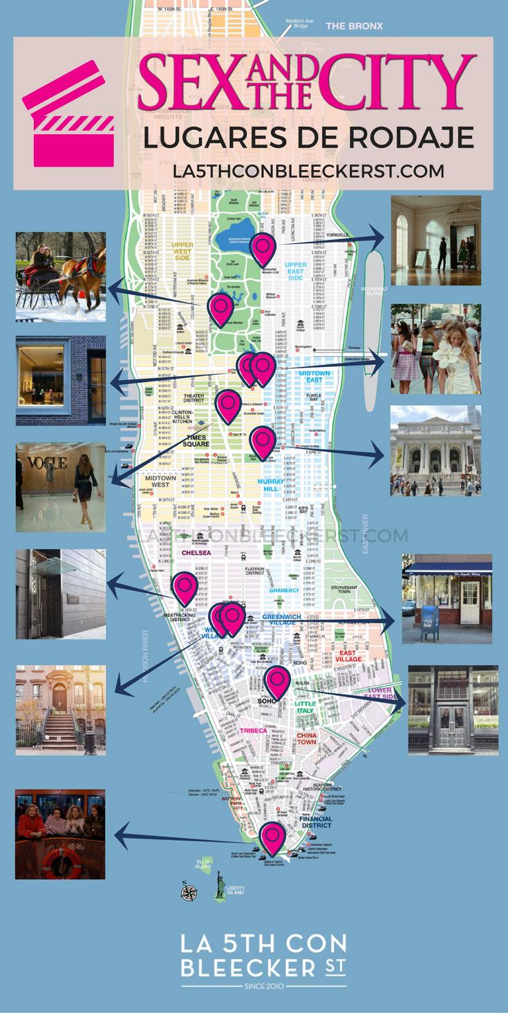 Mapa Ruta Sexo en Nueva York
