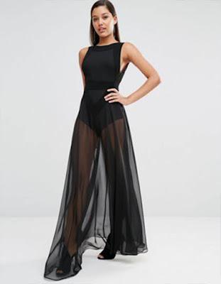 vestido elegante negro juvenil tumblr