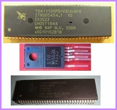 STR W6553A SMPS Schematic TDA11106 Schematic Pin Voltages and