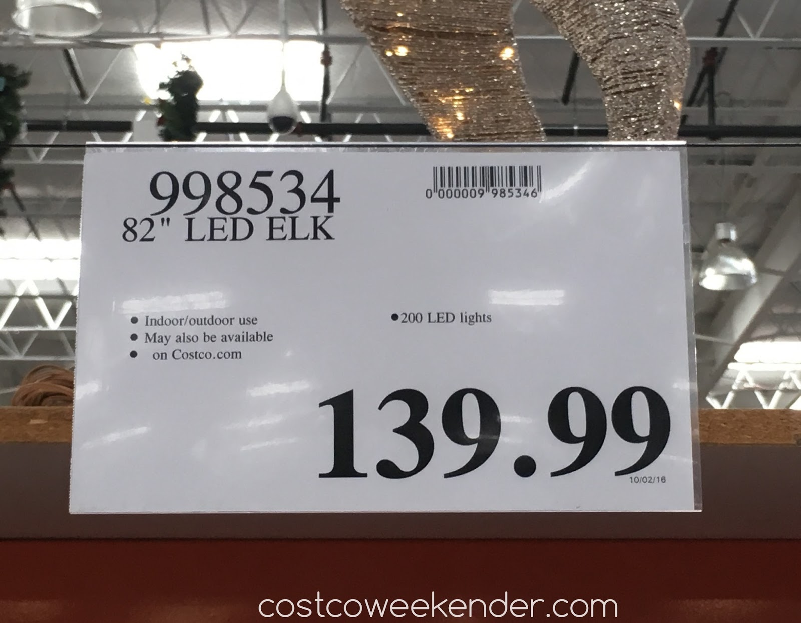 Costco 998534 - Deal for the 82-inch LED Glitter String Elk at Costco