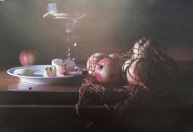 """межрегиональная выставка фотонатюрморта """"Весь мир - театр. Внимание на экспериментальную сцену!"""": Александр Сенников - Авоська с яблоками"""