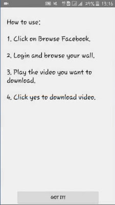 Cara Download Video Facebook Ke Galeri Kita