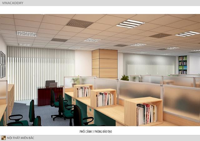 Những tấm kệ ngăn cách bàn làm việc văn phòng cũng được lựa chọn một cách vô cùng trang trọng, nhã nhặn