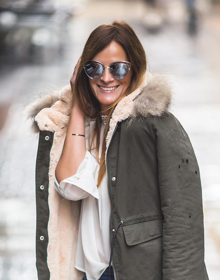 Es cuestion de estilo shop online , Personal Shopper , Lucía Díez , parka verde Militar , Pantalones Baggys, Look sencillo