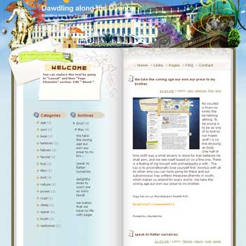 Dawdling along the Danube Blogger Template. free download template blogspot. note book style blogger template free