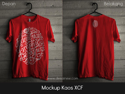 Free Download Mockup T-shirt Kaos XCF