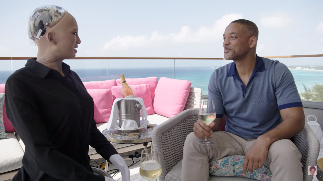 Will Smith Friend Zoned By Sophia, The Robot