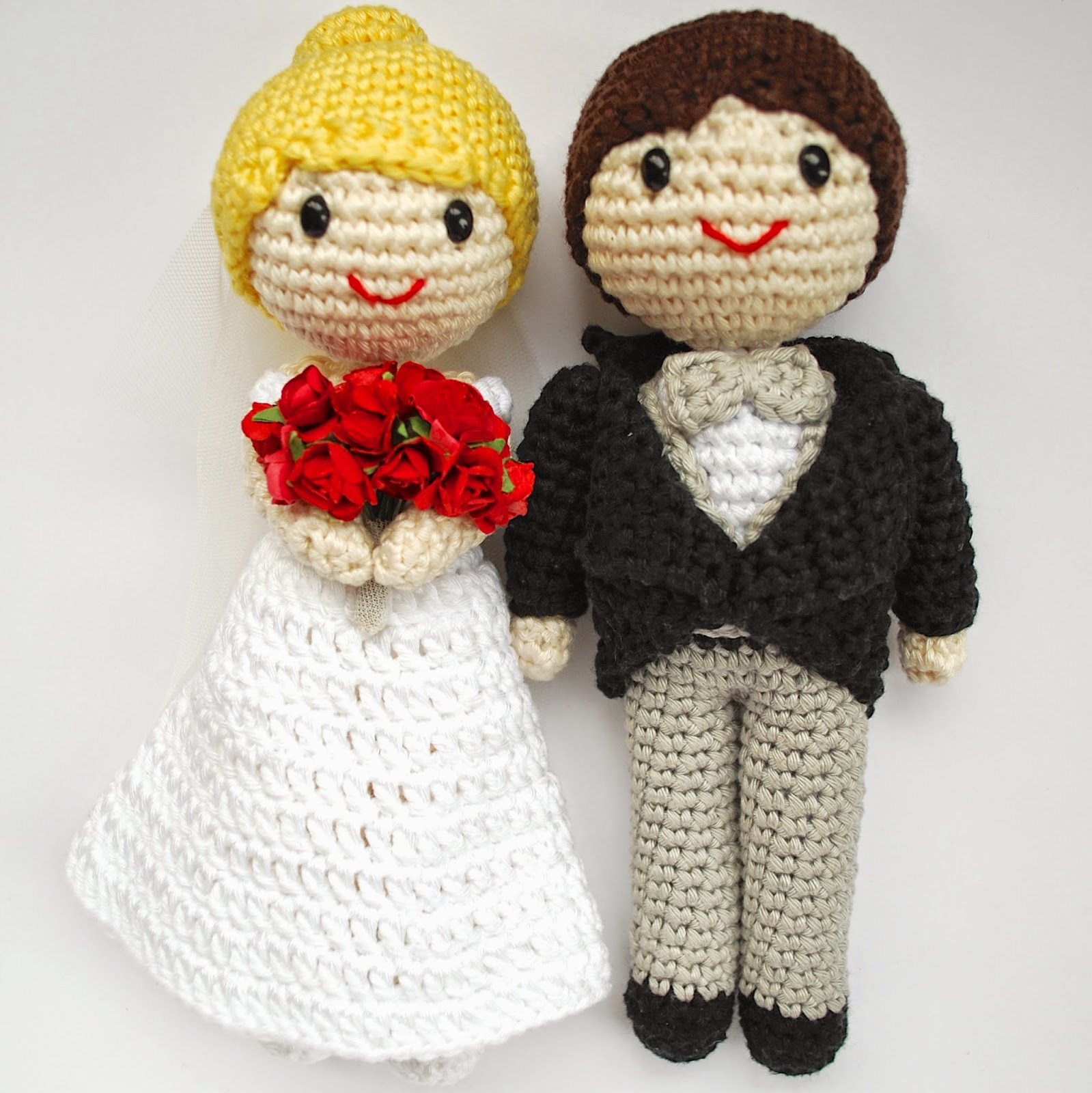 Amigurumi bride and groom for wedings