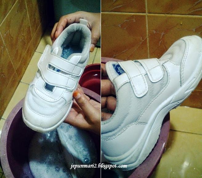 Rahsia kasut sekolah putih bersinar tanpa penat menyental